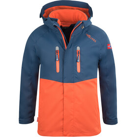 TROLLKIDS Bryggen 3in1 Jacket Kids mystic blue/orange